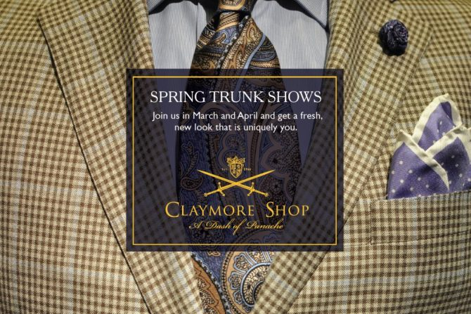 CLAYMORE  SPRING TRUNK SHOW 2017 A
