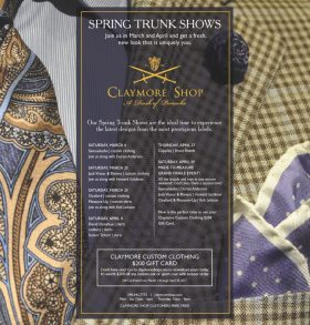 claymore trunk show spring 2017